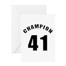 41 Champion Birthday Designs Greeting Card