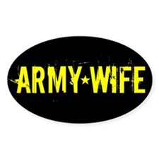 Army Wife: Black and Gold Decal