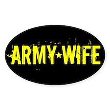 U.S. Army: Wife (Black & Gold) Decal