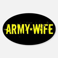 U.S. Army: Wife (Black & Gold) Decal