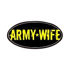 Army Wife: Black and Gold Patches