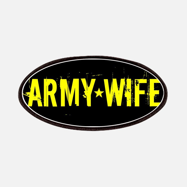 U.S. Army: Wife (Black & Gold) Patch