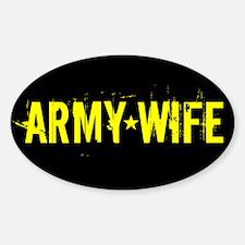 U.S. Army: Wife (Black & Gold Decal
