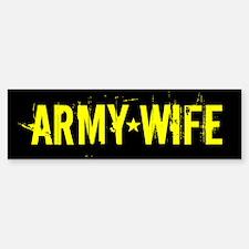 U.S. Army: Wife (Black & Go Bumper Bumper Sticker