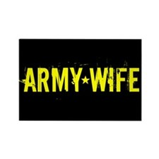 U.S. Army: Wife (Black & Gold) Rectangle Magnet