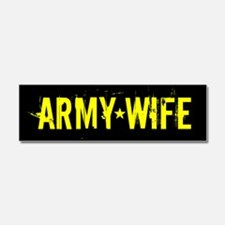 U.S. Army: Wife (Black & Gold) Car Magnet 10 x 3
