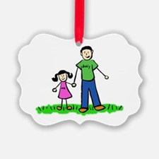 Father and Daughter (Black Hair) Ornament