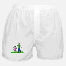 Father and Daughter (Black Hair) Boxer Shorts