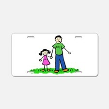 Father And Daughter Aluminum License Plate