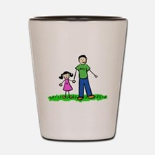 Father and Daughter (Black Hair) Shot Glass