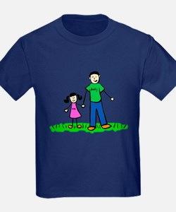 Father and Daughter (Black Hair) T-Shirt
