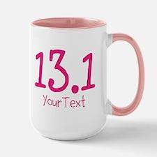 Customize Pink 13.1 (center) Mugs