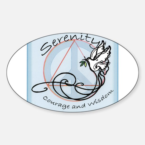 Funny Alcohol recovery Sticker (Oval)