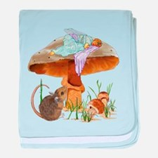 fairy mushroom baby blanket