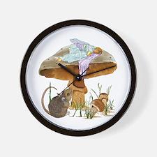 fairy mushroom Wall Clock