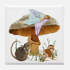 fairy mushroom Tile Coaster