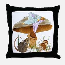 fairy mushroom Throw Pillow