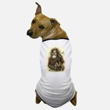 Orangutan Baby With Leaves Dog T-Shirt