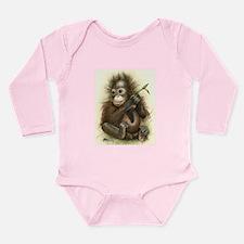 Orangutan Baby With Leaves Body Suit