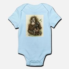 Orangutan Baby With Leaves Body Suit