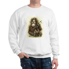 Orangutan Baby With Leaves Sweater