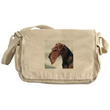 Airedale Head.tif Messenger Bag
