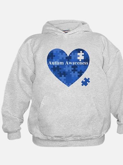 Autism Awareness Heart Hoodie