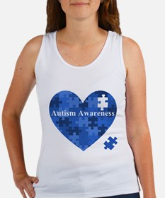 Autism Awareness Heart Tank Top