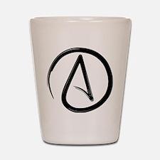 Atheist Symbol Shot Glass