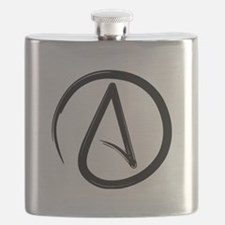 Atheist Symbol Flask