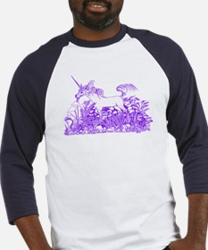 Purple Forest Unicorn Baseball Jersey