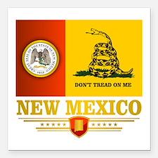 """New Mexico Gadsden Flag Square Car Magnet 3"""" x 3"""""""