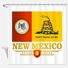 New Mexico Gadsden Flag Shower Curtain