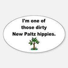 Dirty Hippie Oval Decal