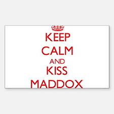 Keep Calm and Kiss Maddox Decal