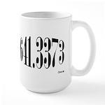 641.3373 Dewey/Librarian Coffee Large Mug