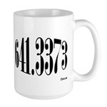 641.3373 Dewey/Librarian Coffee Large Mug
