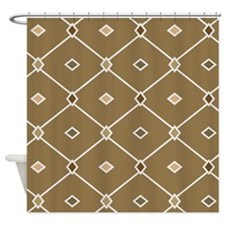 Brown Diamonds Shower Curtain