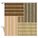 Brown Swirl Line Design Pattern Shower Curtain