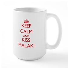 Keep Calm and Kiss Malaki Mugs
