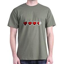 8-Bit Heart Life Meter T-Shirt