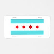 Chicago Flag Aluminum License Plate
