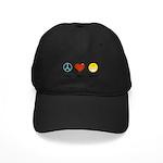 Peace.Love.Braces Black Cap