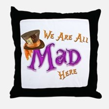 All Mad Throw Pillow