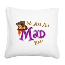 All Mad Square Canvas Pillow
