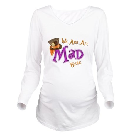 All Mad Long Sleeve Maternity T-Shirt