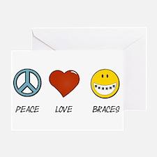 Peace.Love.Braces Greeting Card
