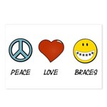 Peace.Love.Braces Postcards (Package of 8)