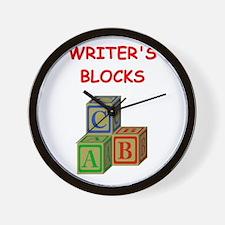 writers block Wall Clock