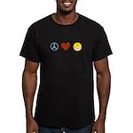 Peace.Love.Braces Men's Fitted T-Shirt (dark)